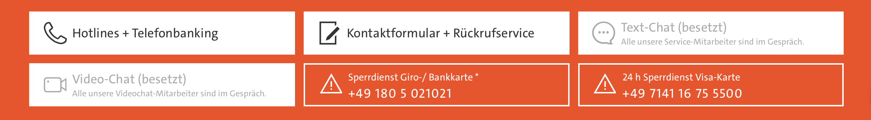 Kunden können Wüstenrot auf verschiedenen Wegen kontaktieren.