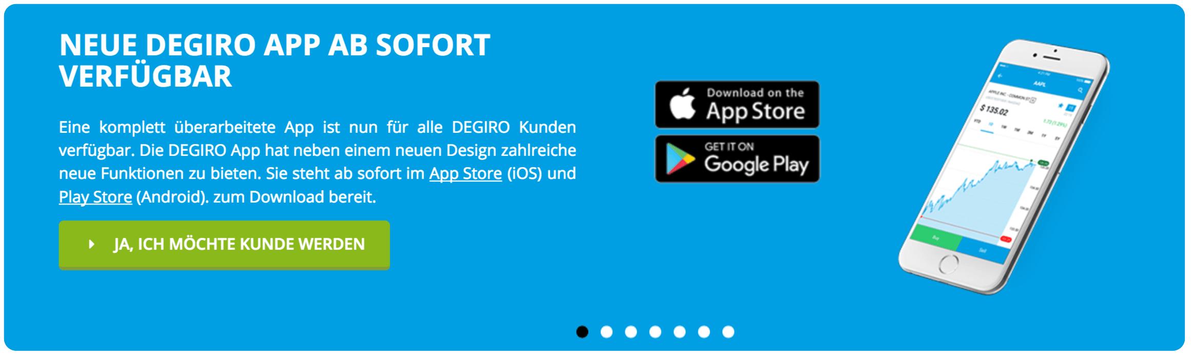 Trading unterwegs mit der DEGIRO App