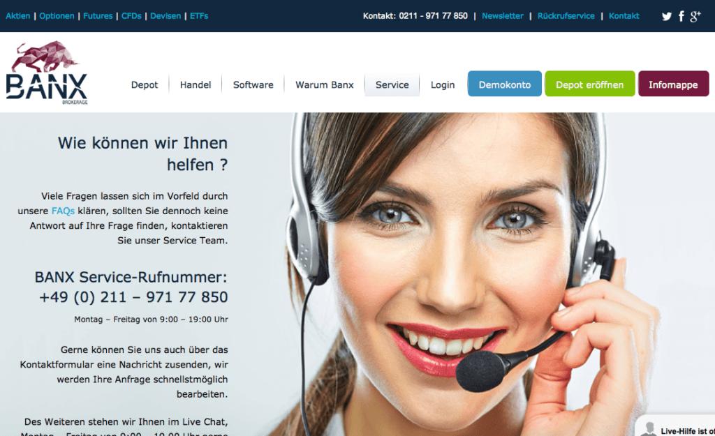 banxbrokerage-übersicht-kontaktdaten