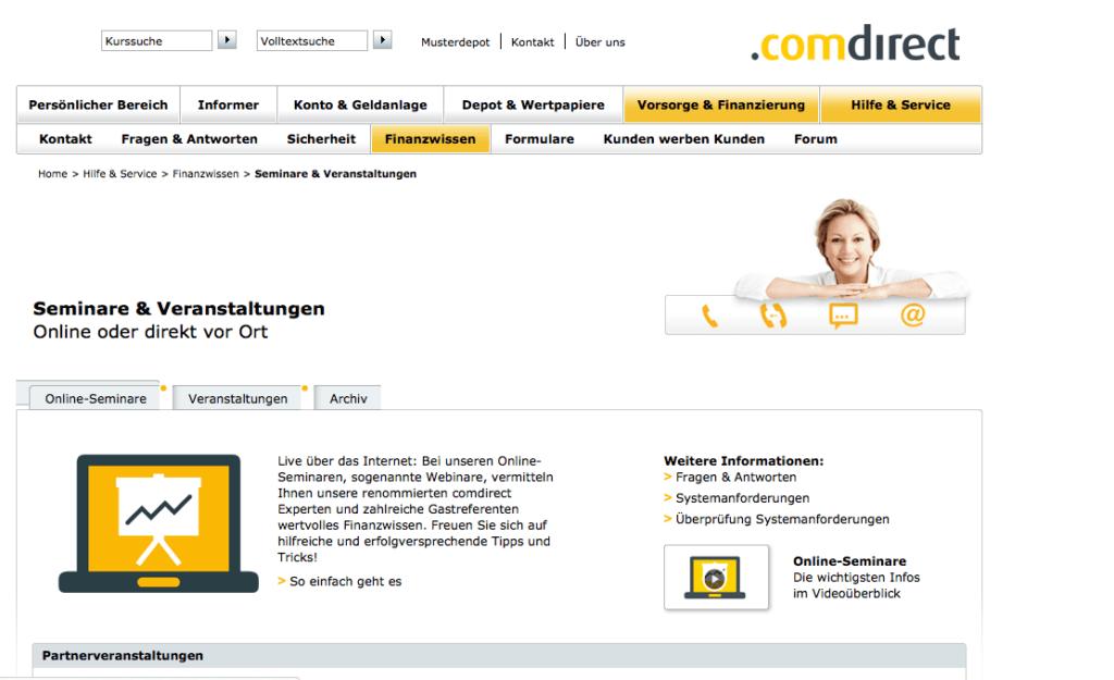 comdirect-webinare