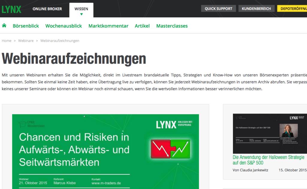 lynx-webinare