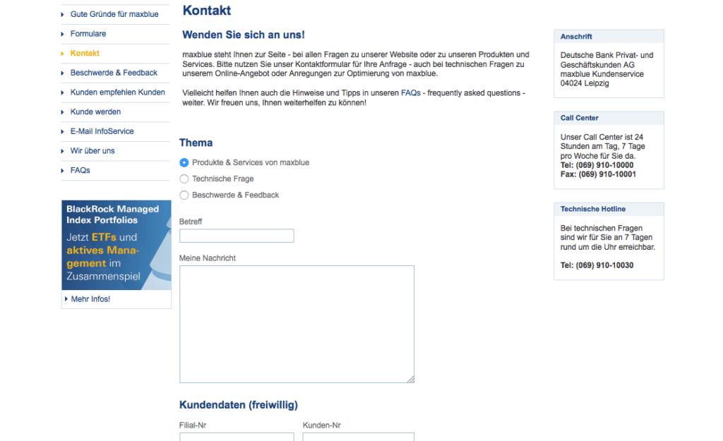 maxblue-übersicht-kontaktdaten