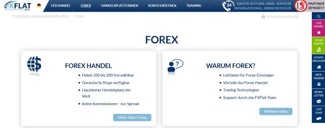 Bei FXFlat können Kunden zwischen einem deutschen und einem britischen Konto wählen.