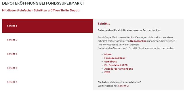 FondsSuperMarkt Depoteröffnung