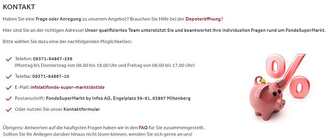 FondsSuperMarkt Kontaktdaten