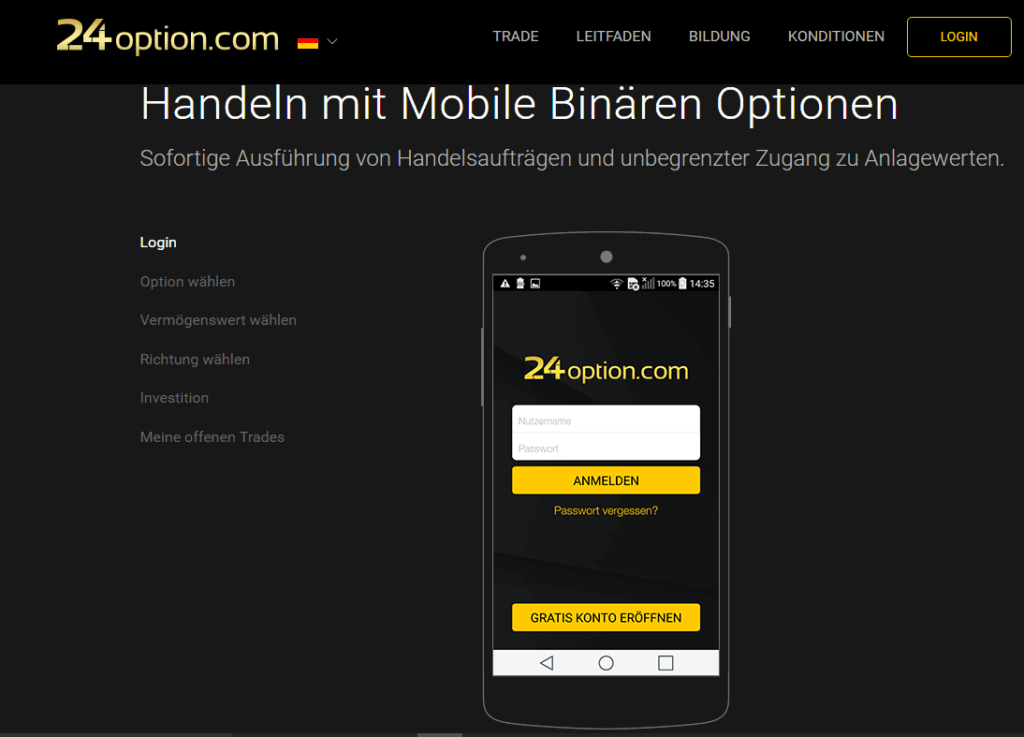 24option Mobile Plattform