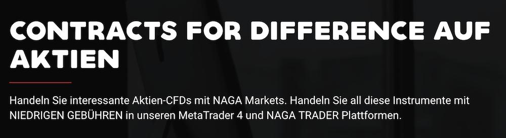 NAGA Trader CFD-Handel auf Aktien