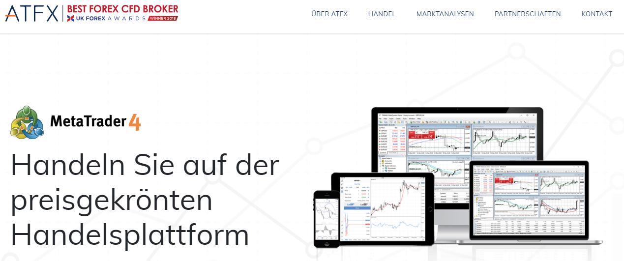 Bei ATFX steht Ihnen der Meta 4 Trader zur Verfügung