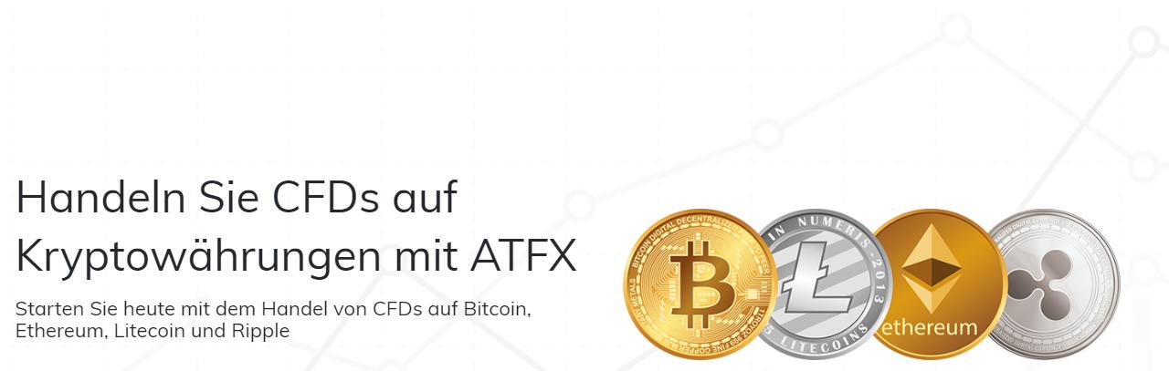 Bei ATFX können CFDs auf Kryptowährungen gehandelt werden