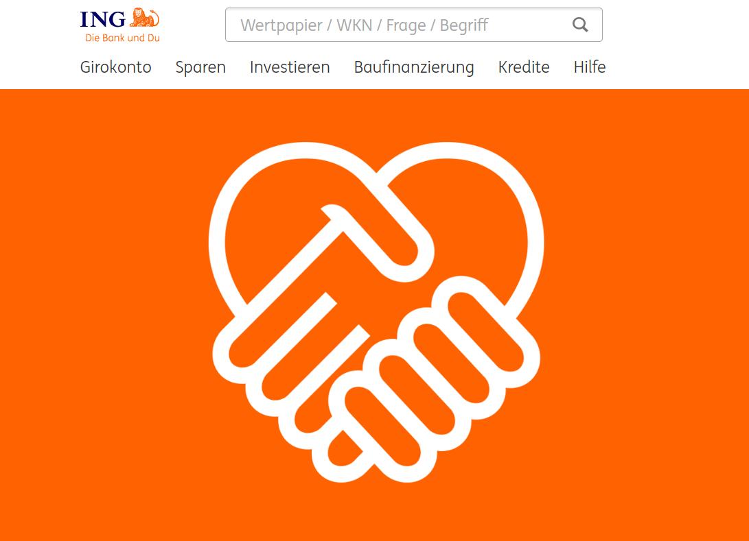 das ist die Website der ING