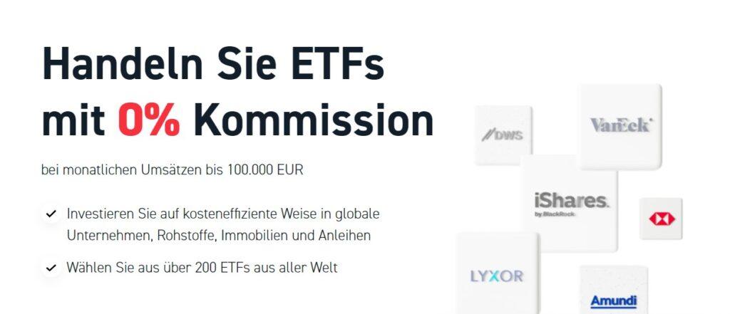 Mit XTB auch ETFs mit 0% Kommission handeln