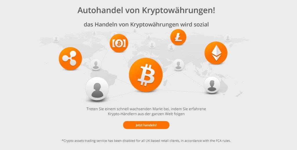 Starten Sie den Autohandel von Kryptowährungen bei Zulutrade