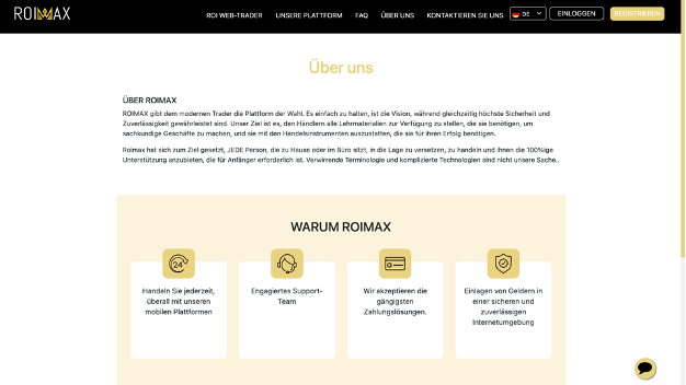 Roimax Webseite