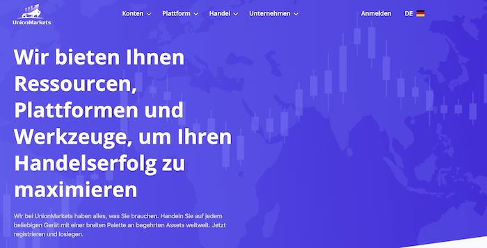 UnionMarkets Homepage